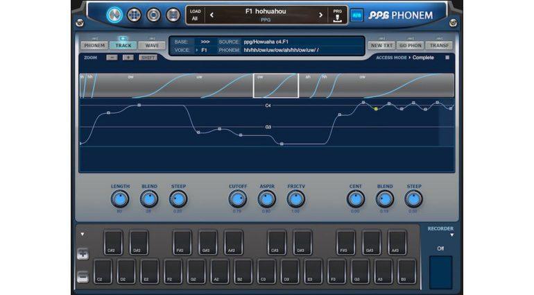 Wolfgang Palm PPG Phonem for iOS - ein Vocal Synthesizer für das iPad