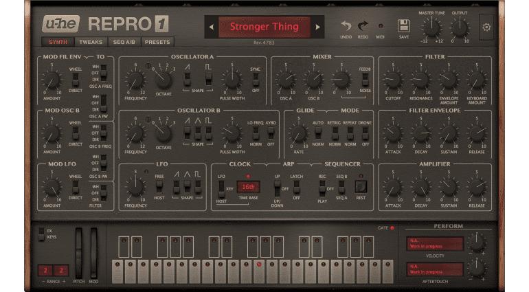 Software Synthesizer U-He Repro-1 steht kurz vor der Fertigstellung