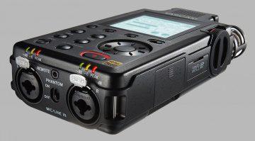 Tascam DR-100 MK III Hand Field Recorder Slant grau