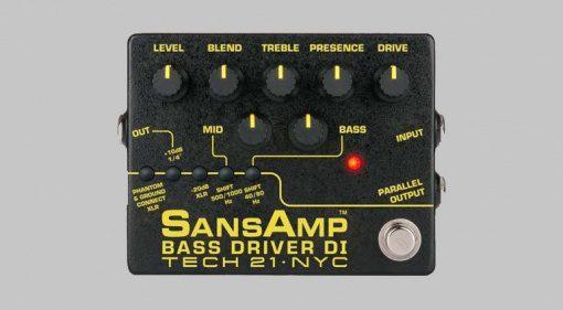 Tech21 SansAmp Bass Driver DI V2 Pedal Effekt Preamp Front grau