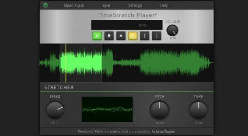 TimeStretch Player GUI Browser Screenshot