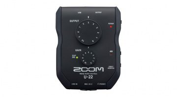ZOOM U-22 mobile recording audio interface portable
