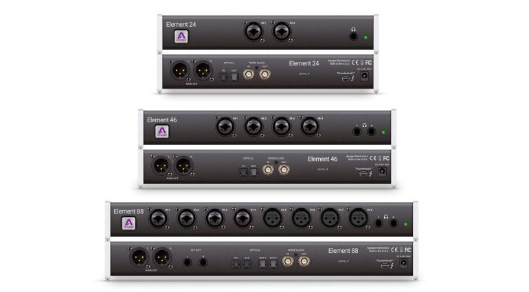 Apogee Element Thunderbolt Audio Interface Series Front Rueckseite