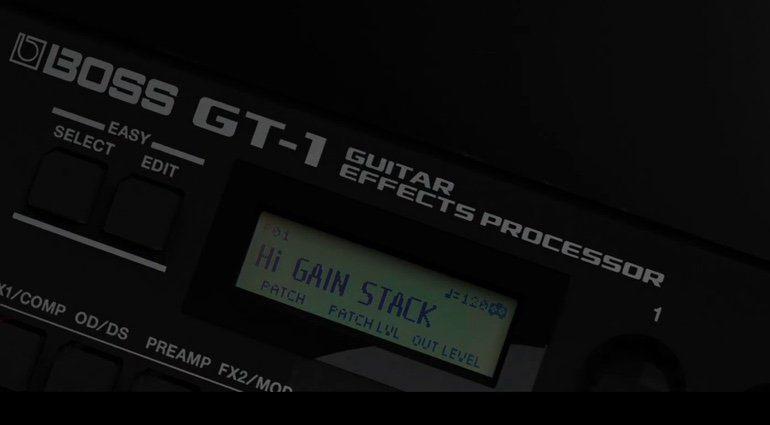 Boss GT-1 Display