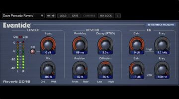 Eventide Stereo Room Reverb Plug-in GUI