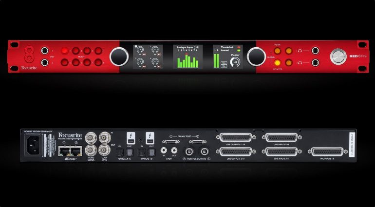Focusrite Red 8Pre Thunderbolt Audio Interface Front Rueckseite