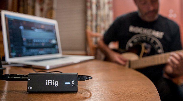 IK Multimedia iRig HD2 iOS Front Studio Gitarre