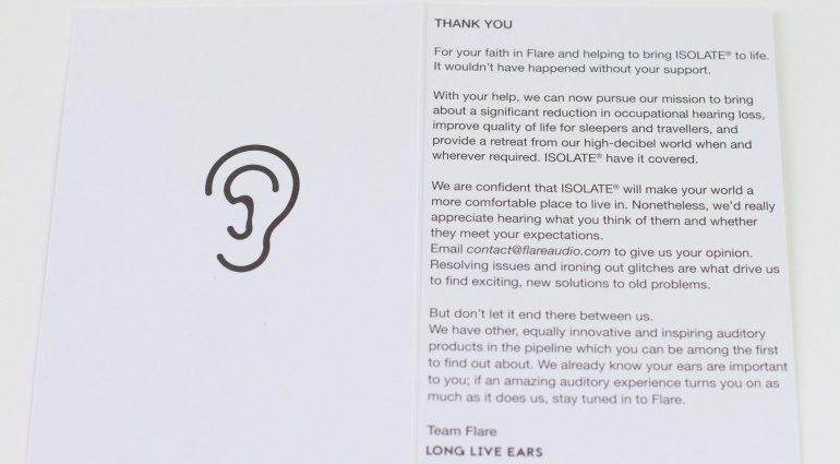 Flare Audio Isolate - vom Kickstarter bis in meine Ohren
