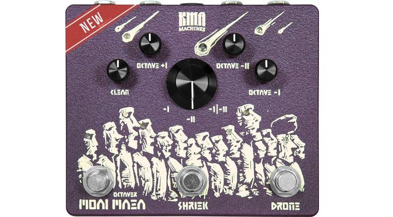 KMA Machines Moai Maea Oktaver Effekt Pedal OC-07 Front Groß