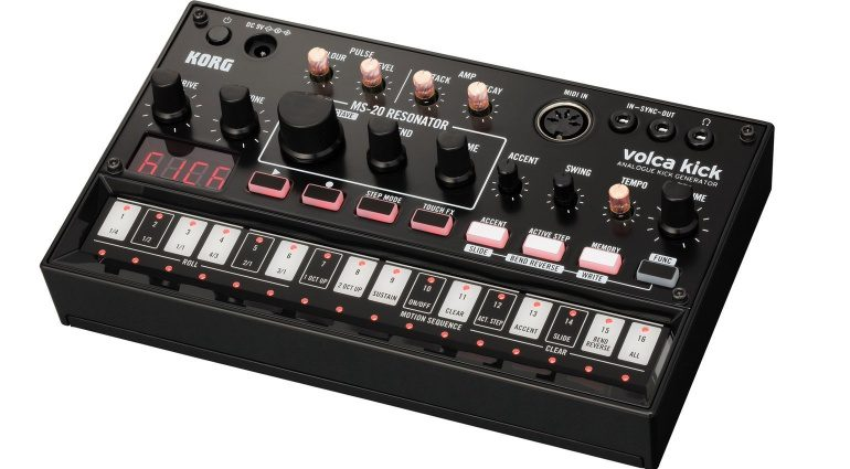 Korg Volca Kick Top Front Slant Black