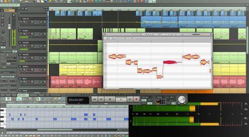 Magix Samplitude Pro X3 Suite ARA Melodyne GUI