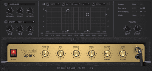 Mercuriall Audio Spark Marshall Amp Simulation GUI Front