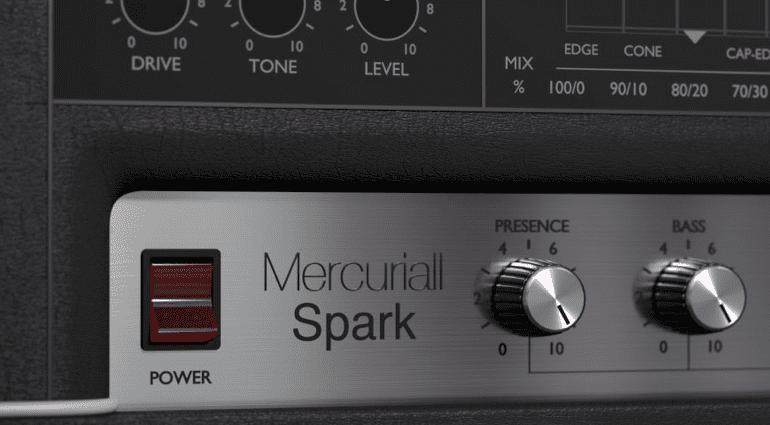 Mercuriall Audio Spark Marshall Amp Simulation GUI Slant