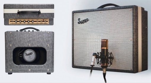 Supro 1610RT Comet Combo Recording Front Mikro