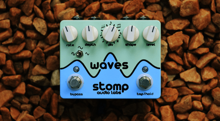 Stomp Audio Labs Waves Tremolo Pedal Front
