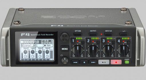 Zoom F4 Field Recorder Front Grau