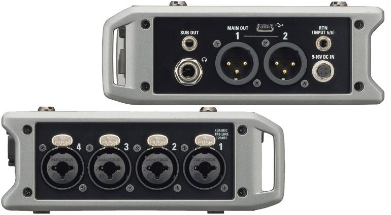Zoom F4 Field Recorder Left Right Inputs Outputs
