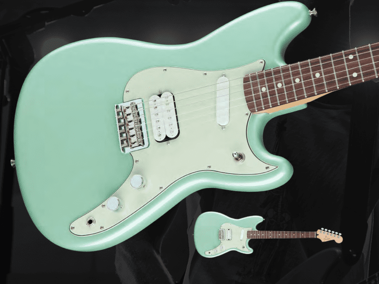 Fender Duo-Sonic HS Humbucker Green Front