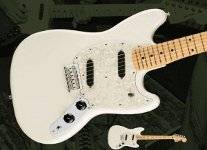 Fender Mustang Olympic White Front