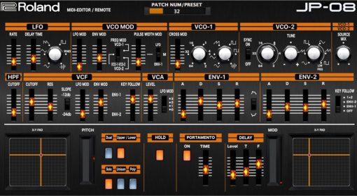 """Momos Roland Boutique JP-08 """"MIDI Editor / Remote"""""""