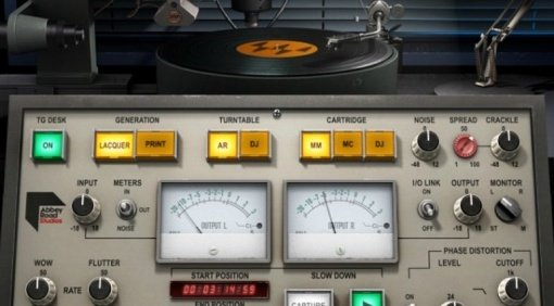Waves Abbey Road Vinyl Plug-in GUI Close Up