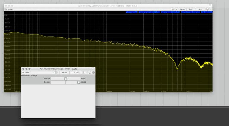 Airwindows Average Plug-in GUI Low Pass Filter FFT Analyzer fuenfzig Prozent