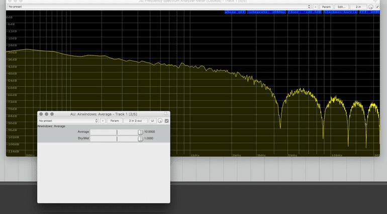 Airwindows Average Plug-in GUI Low Pass Filter FFT Analyzer hundert Prozent