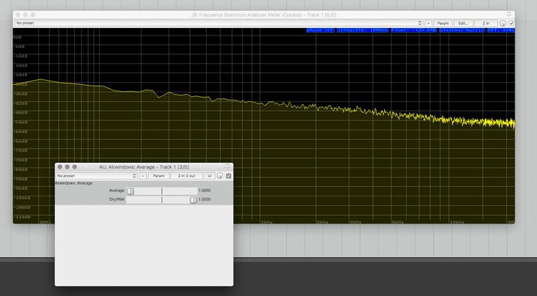 Airwindows Average Plug-in GUI Low Pass Filter FFT Analyzer Null Prozent
