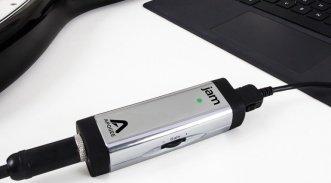 Apogee JAM 96k Mac Windows USB Lightning Audio Interface Guitar Bass Gehaeuse Front Close Up