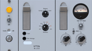 Audified U73b Kompressor Plug-in Emulation Telefunken Variable Mu GUI