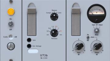 Audified U73b Kompressor Plug-in Emulation Telefunken Variable Mu GUI