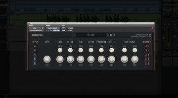 Audiority Harmonic Exciter Plug-in GUI Pro Tools DAW