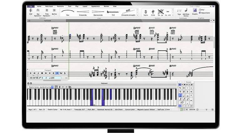 Avid Sibelius First 8 Notation Scoring iMac Front GUI