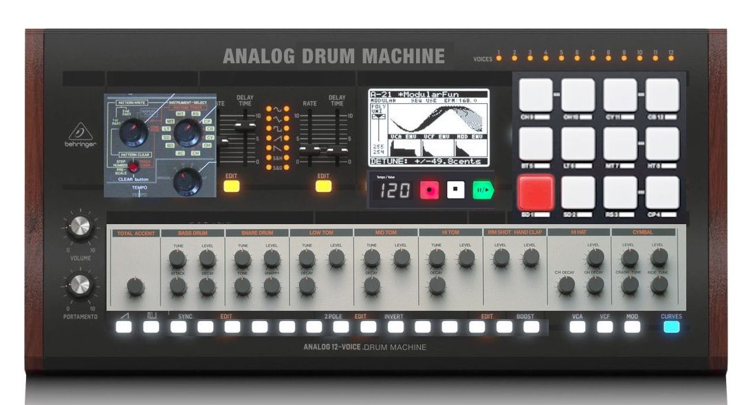 Behringer Analog Drum Machine Mockup 2