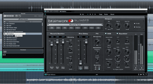 Brainworx bx_rooMS Fiedler Audio Plug-in Algorithmic Reverb VST AU AAX GUI Front Cubase