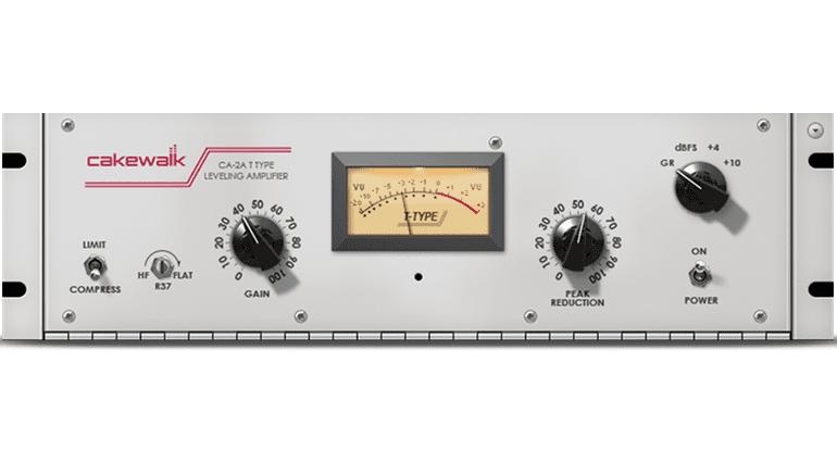 Cakewalk CA-2A Plug-in GUI LA-2A Kompressor Limiter LEveling Amplifier ohne Hintergrund