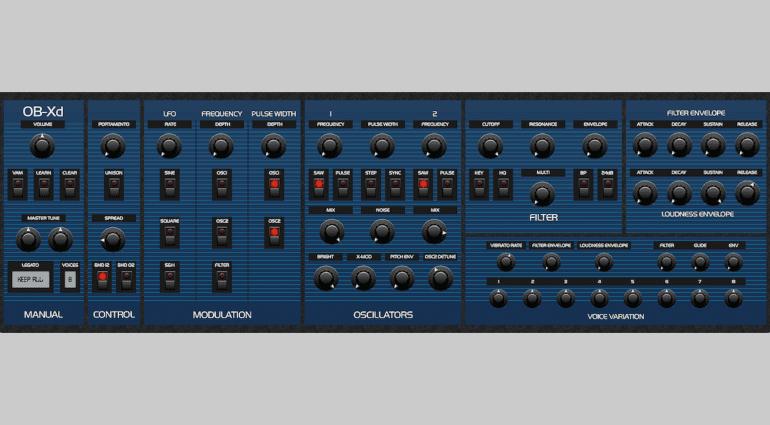 DiscoDSP OB-Xd 1.3 - der Klassiker als kostenloser VST-Synthesizer