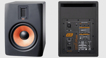 ESI uniK 8+ Studio Monitor Speaker Front Back