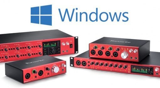 focusrite clarett interfaces with windows drivers