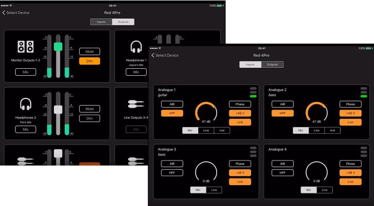 Focusrite Control iPad iPhone iOS Scarlett Clarett RED Interface Remote Fernbedienung.png