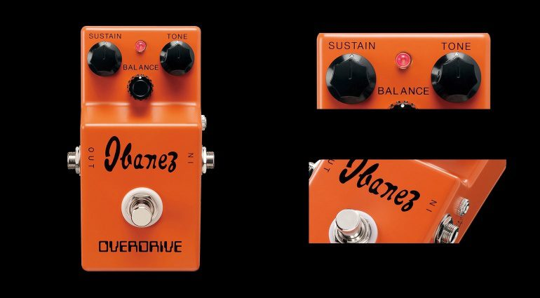 Ibanez OD850 Pedal Effekt Overdrive Fuzz Front Close Up