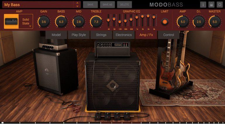 IK Multimedia MODO Bass Plug-in GUI Amp Verstaerker Fenster