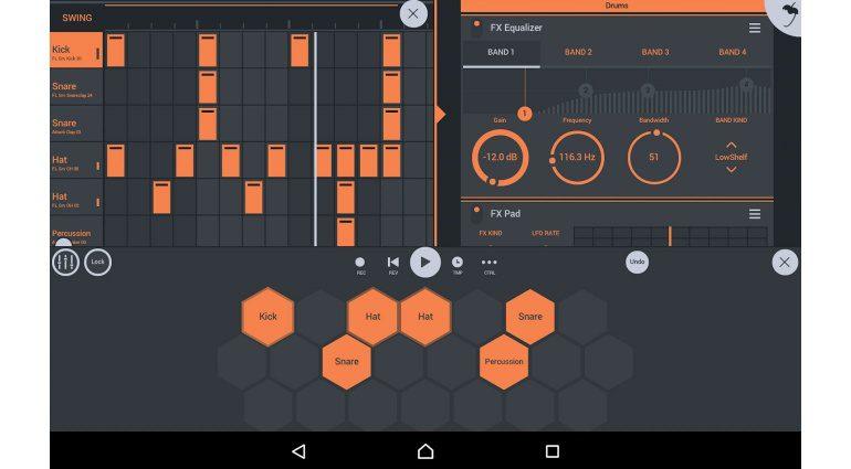 Image Line FL Studio Mobile 3 App GUI Drum Pad