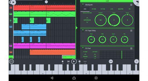 Image Line FL Studio Mobile 3 App GUI Main View Split SCreen