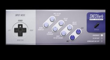 Impact Soundworks SNESverb Revern Delay Super Nintendo Effekt Plug-in GUI