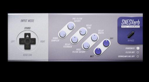 Impact Soundworks SNESverb Revern Delay Super Nintendo Effekt Plug-in GUI