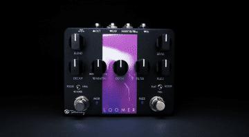 Keeley Loomer Fuzz Modulation Reverb Octaver Pedal Effekt My Bloody Valentine Shoegazing Front Hintergrund