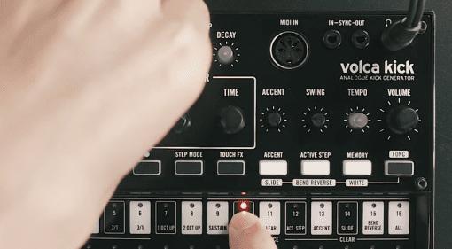 Korg Volca Kick Analog Drum Synth Generator Front Video Demo
