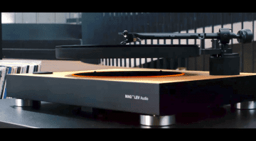 Mag-Lev Audio schwebender Plattenteller Schallplatte Vinyl Kickstarter
