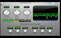 Metric Halo TransientControl Plug-in Effekt GUI